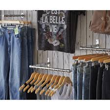 wall mounted clothes rail. Wall-Mounted Chrome Tube Hanging Rail - 1 M Wall Mounted Clothes I