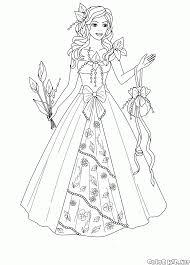 Disegni Da Colorare La Principessa Del Regno Dei Fiori