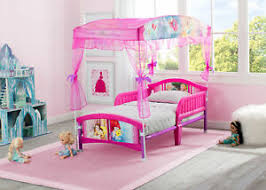 Details about Disney Toddler Canopy Bed Girl Kids Safety Guardrail Bedroom Furniture