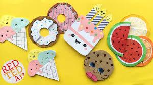 5 easy kawaii bookmark diys diy ice cream cookie cupcakes melon bookmarks red ted art