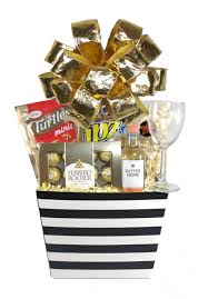 black white array of gifts just because houston pearland tx gift basket delivery