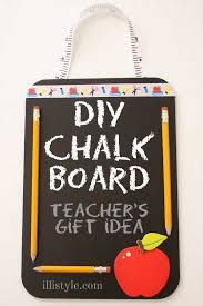 diy chalk board teacher s gift idea illistyle com