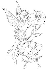 Small Picture Fairy Coloring Pages Disney Cartoon Fairy Tinker Bell Coloring