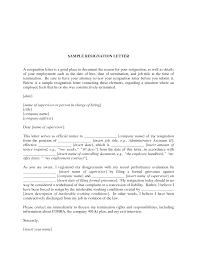 Resignation Letter Good Resignation Letters Letter To Employer