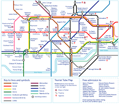 tourist tube map of london