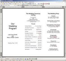 printable program templates new easy to print foil frame trifold programs wedding