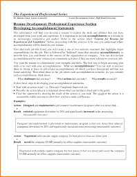 Resume Accomplishment Examples Free Resume Example And Writing