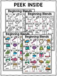 Beginning Blends Phonics Charts
