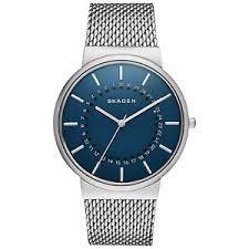 skagen men watch chronograph skw6234 ancher blue dial stainless image is loading skagen men watch chronograph skw6234 ancher blue dial