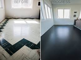 We Painted The Old Dates Asbestos Tile We Found Beneath Our Painted Living Room Floors
