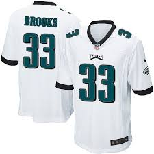 Mens Nike Philadelphia Eagles 33 Ron Brooks Game White Nfl