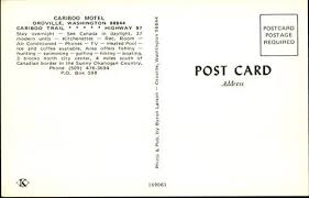 Cariboo Motel Oroville, Washington WA Original Vintage Postcard at Amazon's  Entertainment Collectibles Store