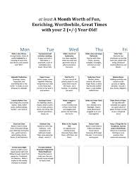 A Month Of Things To Do With Your Preschooler Activities