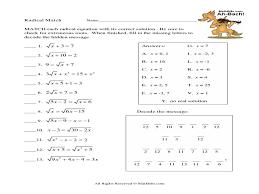 worksheets sharebrowse radicals math worksheets radical equations