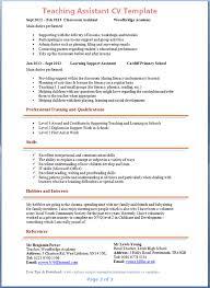 Teaching Assistant Resume Sample Sarahepps Com