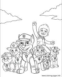 Free Color Pages Paw Patrol Paw Patrol Colouring Pictures Printable