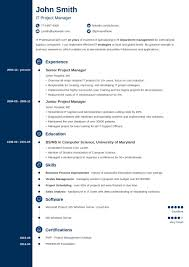 Online Resume Template Concept 10 Classic Blue Navy 312 Cnawaycom