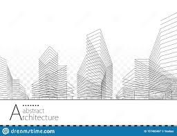 Building Design And Construction Architectural Abstract Building Design Stock Vector