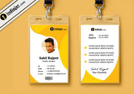 002 Employee Id Card Template Psd Free Download Ideas