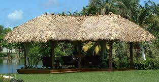 tiki huts miami. Brilliant Tiki Lshaped Gazebo Style Palm Thatch Tiki Hut Chickee With Round Wood Pole And Tiki Huts Miami J