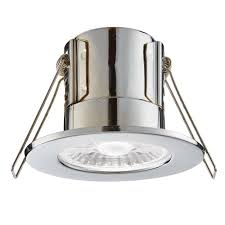 Saxby Lighting Ltd Saxby Lighting Shield Eco 500 Ip65 4w 4000k Dimmable Led Downlight In Chrome