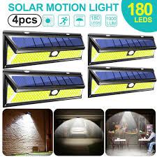 Gigalumi Solar Powered Path Lights Update 118 180 Led Solar Powered Lights Pir Sensor Outdoor Garden Wall Path Lamp