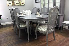 gray dining room furniture. Gray French Provincial Dining Table With Eight Chairs Room Furniture O