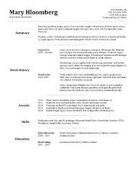 Resume Sample Best Resume Templates Word Free Download Sample Free