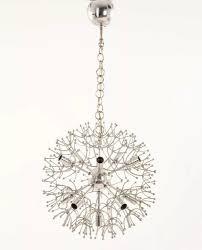 vintage chrome sputnik pendant lamp by