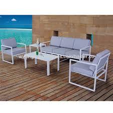 modern metal outdoor furniture photo. China All Aluminum 5pcs Knock Down Patio Sofa Set Metal Garden Furniture Modern Outdoor Tube Photo