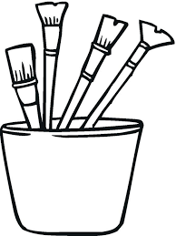 Paintbrush Coloring Page Paint Brush Picture Coloring Page Legend Of