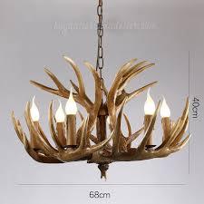 vintage 6 cast deer antler chandelier six cascade ceiling lights rustic style pendant lighting fixtures