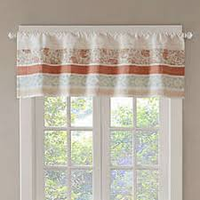 T Madison Park Dawn Window Valance In Coral