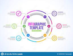 Infographic Template Design Vector Circle Diagram