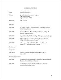 Medical Resume Format Cv Download Representative Vozmitut