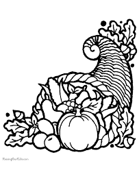 Printable Coloring Pages Cornucopia