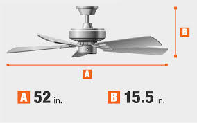 ceiling fan dimensions fan blade span and height