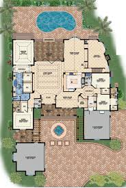coastal contemporary mediterranean house plan plans with photos flat roof fire designs traditional spanish style home single story homes outhouse double