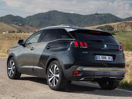 2018 peugeot suv. exellent suv peugeot 3008 suv india images rear angle for 2018