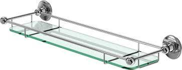 Glass Bathroom Shelf Elegant Glass Bathroom Shelves With Chrome Laurieacouture With