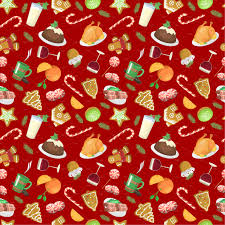 Christmas Pattern Gorgeous Traditional Christmas Food Pattern Illustrations Creative Market