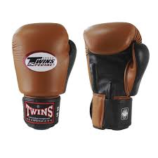 twins professional leather boxing gloves muay thai kickboxing boxing bgvl 3 retro brown black