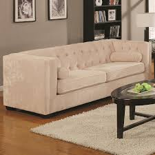 Button Couch Amazoncom Coaster Alexis Transitional Chesterfield Sofa In