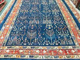 blue oriental rug fancy navy x tree of life area rugs red wool