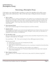descriptive essay exles and writing