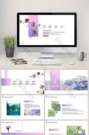 Ppt Style Creative Aesthetic Simple Country Style Series Ppt Template