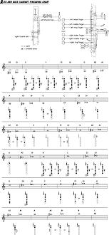 E Flat Alto Clarinet Finger Chart Bass Clarinet Finger Chart In 2019 Bass Clarinet Finger