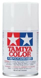 Tamiya Polycarbonate Paint Chart Tamiya 86001 Polycarbonate Rc Body Paint 100ml Spray Can Ps 1 White
