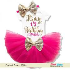 Its My 12 Birthday Girl Outfit Pink Half Birthday Tutu Outfit