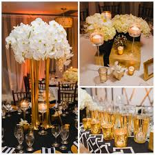 Black Gold White Wedding Decorations